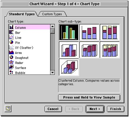 excel creating chart 1