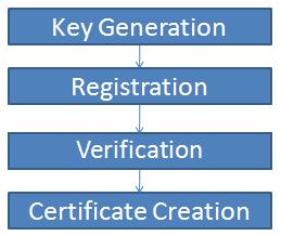 Certificate Creation Stapes